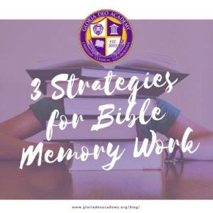 3 Strategies for Bible Memory Work GDA