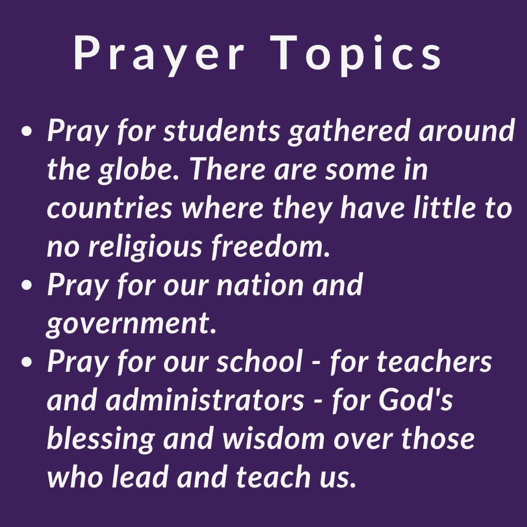 Gloria Deo Academy See You at the Pole Prayer Topics