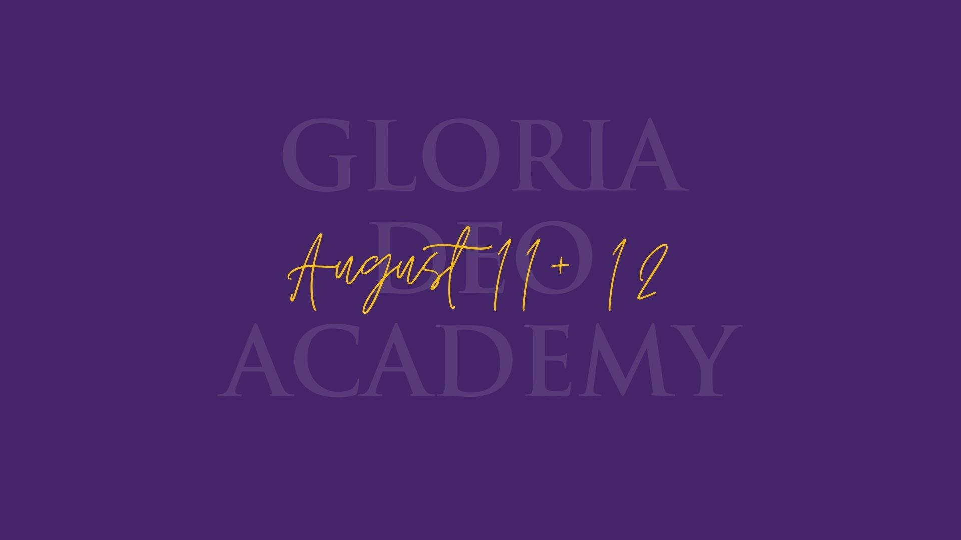 Gloria Deo Academy First Day Springfield
