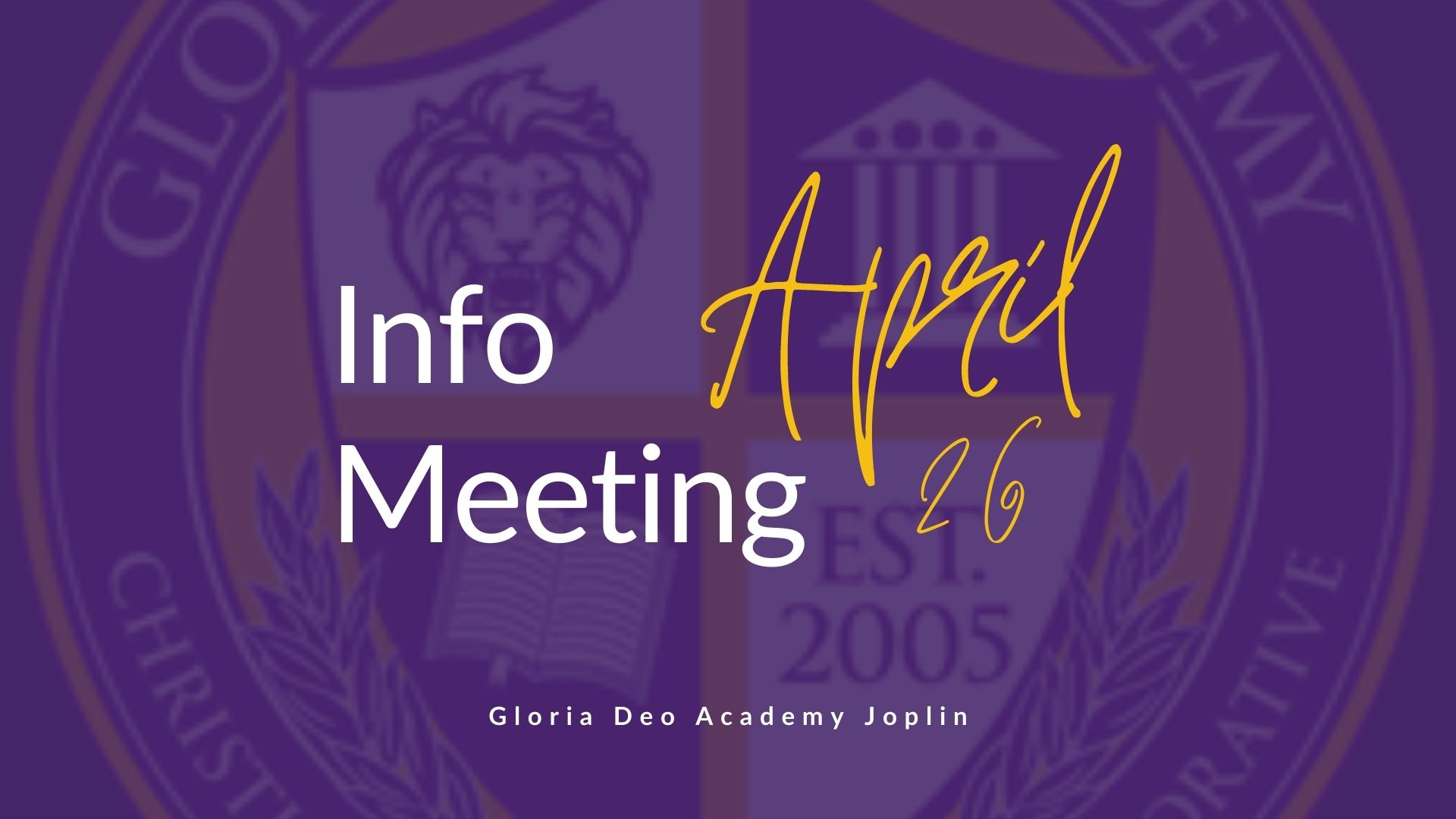 GDA Joplin Info Meeting