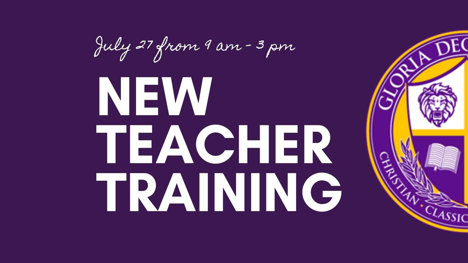 GDA New Teacher Training